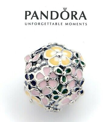 Authentic Pandora Silver 925 Classic Flower Arrangement Enamel Charm 797907