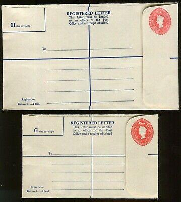 2 FIJI QE2 REGISTERED ENVELOPES MINT & 1 SET 1972 FESTIVAL OF ARTS STAMPS