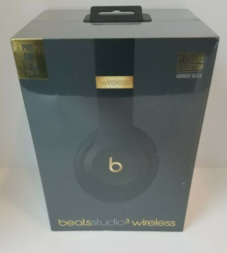 Beats Studio 3 WL Over-Ear Headphones Skyline Collection - Midnight Black  (New)