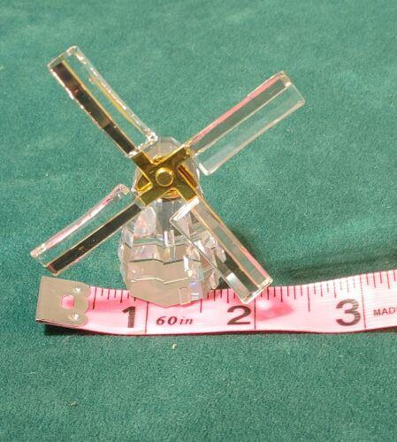 Swarovski Figurine Crystal Memories Gold Journeys Windmill 266301