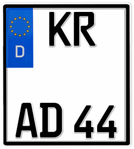Motorrad Kennzeichen 180x200mm Nummernschild Motorradkennzeichen
