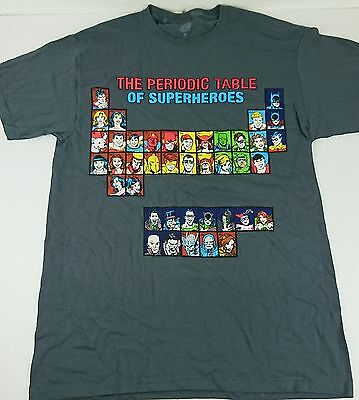 New Dc Comic The Periodic Table Of Super Heroes Adult Medium Large  Licensed