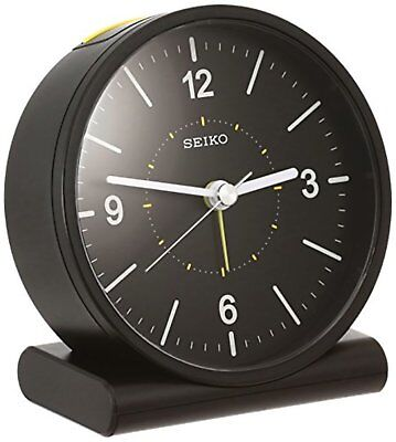 Official SEIKO CLOCK analog alarm clock black KR328K w/Track