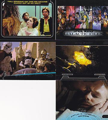 Star Wars Galactic Files 2 mini master set 387 cards 350 set + 4 insert sets
