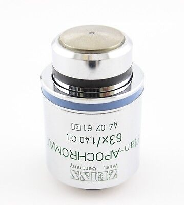 Zeiss Plan Apochromat 63x 1.40 Ph3 Microscope Objective 440761 Phase Contrast