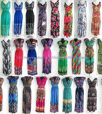 wholesale lot of 10 long dress maxi sundress beach Bohemian Clothes women summer