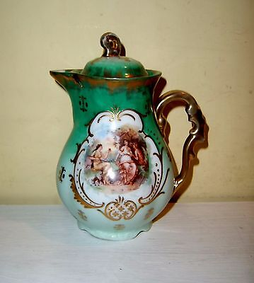 Victoria Carlsbad Austria Antique Coffee Tea Pot Small Childrens Porcelain GTC