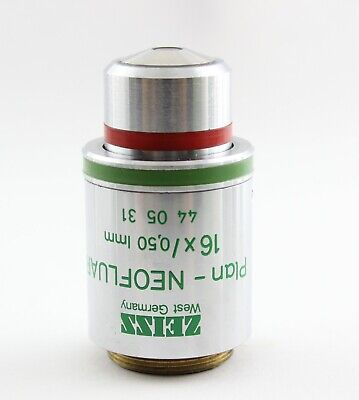 Zeiss 440531 Plan Neofluar 16x 0.50 Imm Ph2 Phase Contrast Microscope Objective