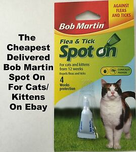 Bob Martin Spot On Flea And Tick Treatment For Cats