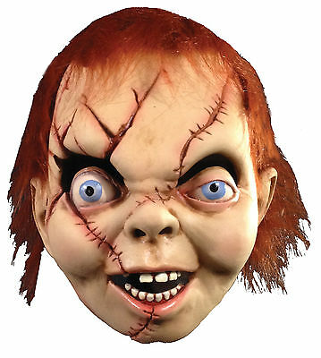 Chucky Latex Mask (Halloween BRIDE OF CHUCKY Latex Deluxe Mask TOT's Officially)