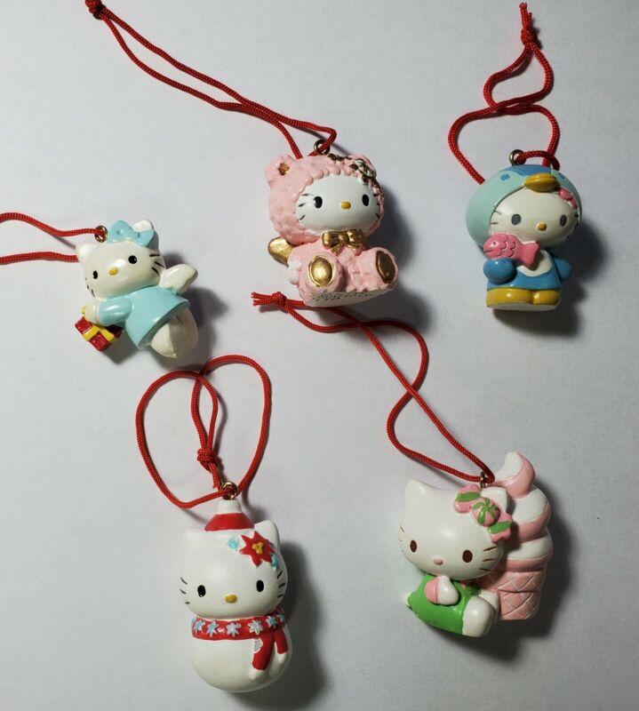 Hello Kitty Sanrio 2004 Christmas Ornaments - Set of 5