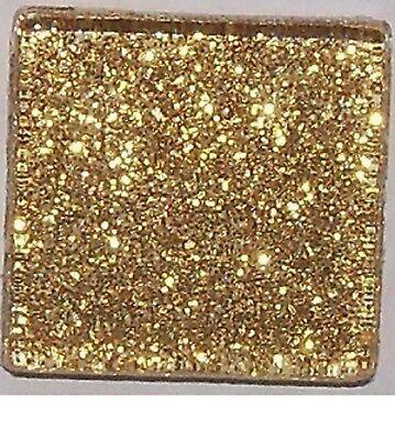 Mosaic Craft Tiles (Glitter Glass Mosaic Tiles - Gold - 3/4 inch - 20 Tiles - Craft & Art)