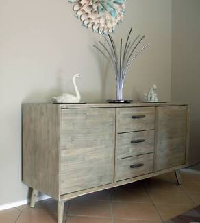 Sideboard - Seattle Grey Stain Solid Wood