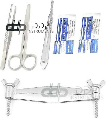 Premium Pitbull Dog Ear Clamp Guide Tools Kit Veterinary Instruments