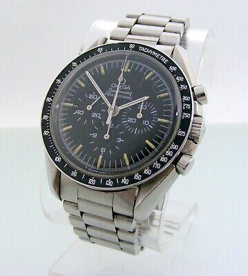 Vintage big 42mm Omega Speedmaster Ref.145.022 black dial, cal 861