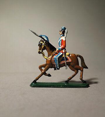 6986:RITTER Zinnfigur,Königreich Sachsen Ulanen Regiment,bemalt,aus Sammlung.