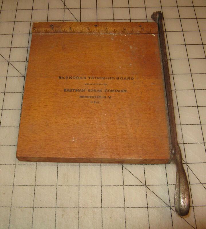 "Vintage 5"" x 8"" No. 2 KODAK Wooden Photo Paper TRIMMING BOARD"