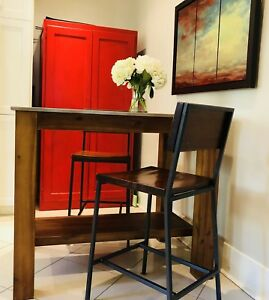 West Elm Kitchen Island and Stools