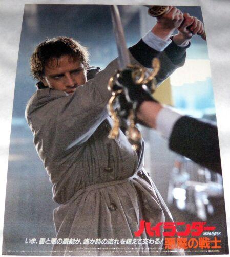 HiGHLANDER Christophe Lambert fantasy Sean Connery swords JAPANESE CHiRASHi