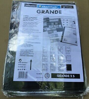 20 Lighthouse Grande 2S Black Stock Sheets Pages Larger than Vario Brand New