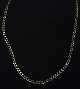 """24"""" 10k gold curb style necklace"""