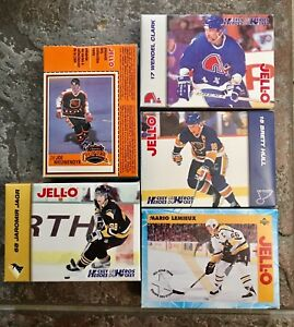 Jello- uncut boxes - hockey cards