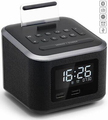 Alarm Clock Radio,Wireless Bluetooth Speaker,Digital Alarm Clock USB Charger for
