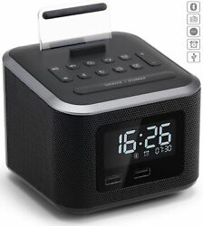 Alarm Clock Radio,Wireless Bluetooth Speaker,Digital Alarm Clock USB Charger for
