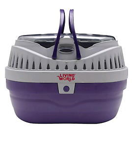 Living World Small Animal Carrier (Small) Purple/Grey Pet Hamster Illawong Sutherland Area Preview