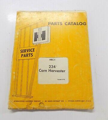 International 234 Corn Harvester Hrc-1 Parts Catalog Manual