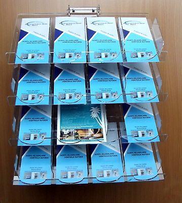 16-Fach-Prospektwandhalter,Wand-Prospekthalter,DIN LANG,A6,A5,Flyerhalter