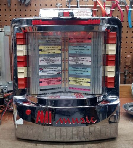 AMI WALLBOX JUKEBOX MODEL WQ-200-3 RESTORED - STOCK #5363