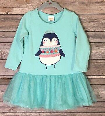 GYMBOREE BABY GIRL WINTER PENGUIN TUTU DRESS MINT GREEN SIZE 12-18 Months (Penguin Baby Dress)