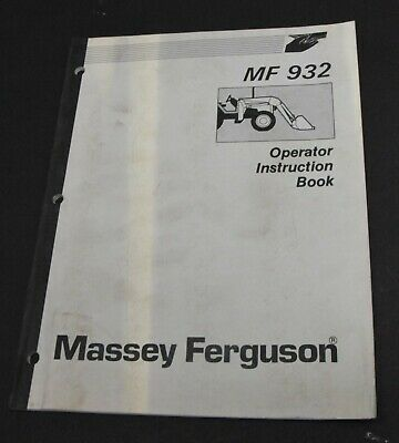 Massey Ferguson Mf 932 Agricultural Loader Owners Operator Instruction Manual