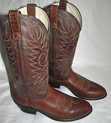 Vintage Acme Circle A Brown Leather Cowboy Western Boots Mens Size 9.5 D