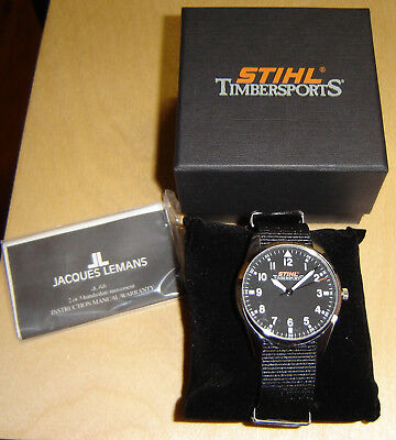 Stihl Timbersports Jacques Lemans Herren Armbanduhr Herrenuhr Uhr Fanartikel