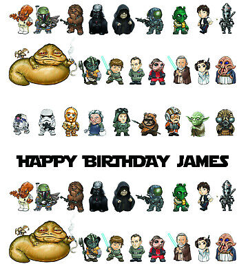 Personalised Star Wars Wrapping Paper A1 Size