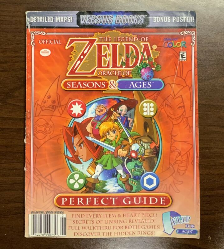 The Legend Of Zelda Oracle Of Seasons And Ages Perfect Guide Game Boy Color Maps