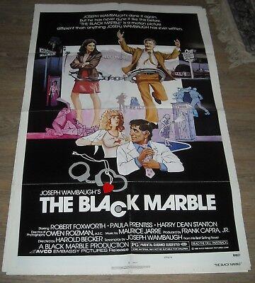 1980 The BLACK MARBLE 1 SHEET MOVIE POSTER PAULA PRENTISS GGA ROBERT FOXWORTH