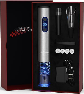 Electric Wine Opener with Charger- Wine Accessories Holiday Gift Set Holiday Kit