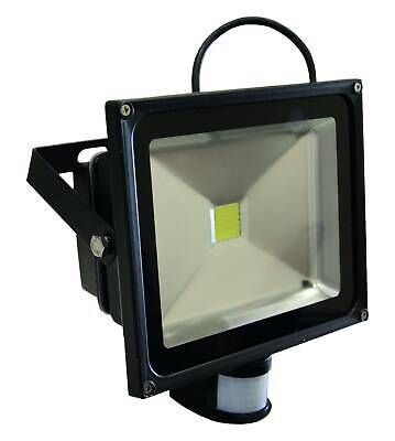 Faro Proyector LED 50W Luz Blanca Frío con Sensor de Movimiento Crepuscular...
