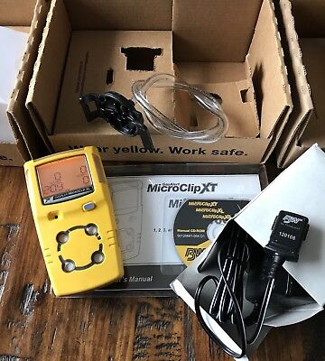 Bw Gasalert Microclip Xl Multi Gas Monitor Detector H2slelcoo2 Calibrated