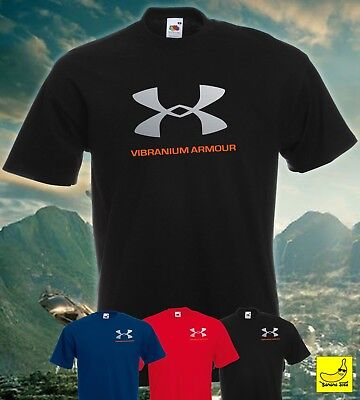 Vibranium Black Panther T-Shirt Under Armour Wakanda Avengers Marvel Movie Tee