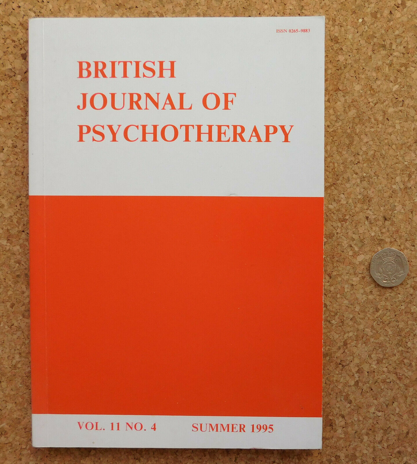 British Journal of Psychotherapy 1995 medical book 1990s mental health medicine