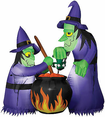 HALLOWEEN WITCHES WITCH CAULDRON HAUNTED HOUSE INFLATABLE AIRBLOWN 6 FT