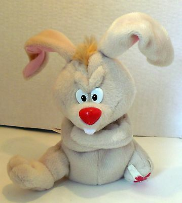 1997 MEANIES SERIES 1 LUCKY THE RABBIT PLUSH BEANIE NWT 6""