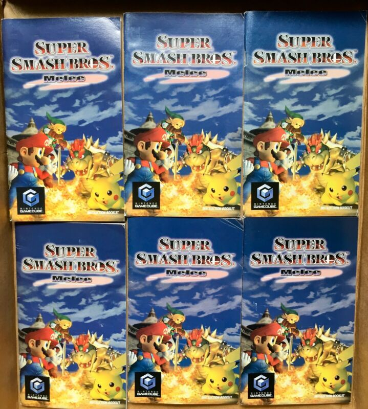 Super Smash Bros Melee -Nintendo Gamecube Instruction Booklet Manual ONLY (GOOD)