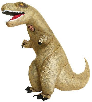 T-Rex Dinosaurier Aufblasbar Erwachsene Kostüm Lustig Halloween Morph Suits (Lustige T Rex Kostüm)