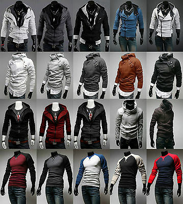 New Mens Top Designed Hoodie Jacket Coat Long Sleave Sport Sweater Shirt 9 Style