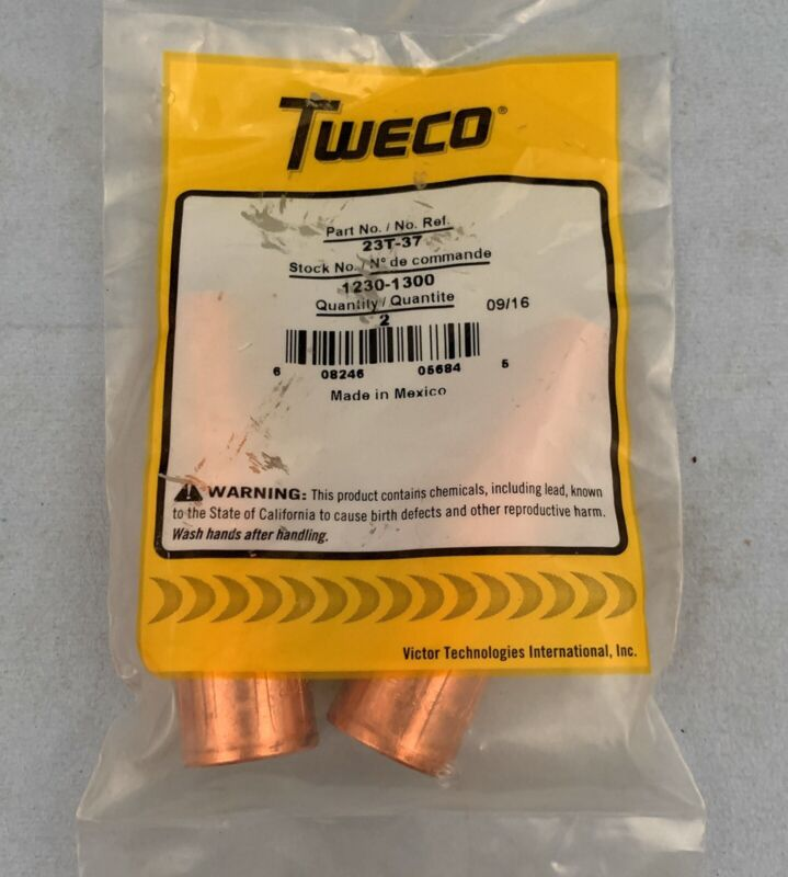 "🌟(2 Pack) Tweco 23T-37 Tapered 3/8"" Nozzle Fitting for MIG Welding 1230-1300"